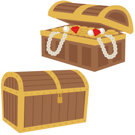 Treasure Chest SVG scrapbook cut file cute clipart clip ...