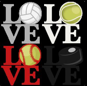 Love Sports Titles SVG scrapbook cut file cute clipart clip art files for silhouette cricut pazzles free svgs free svg cuts cute cut files