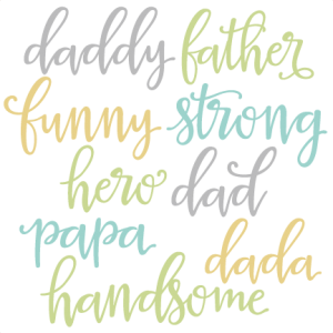 Dad Words Set SVG scrapbook cut file cute clipart files for silhouette cricut pazzles free svgs free svg cuts cute cut files