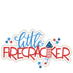 Little Firecracker Title SVG scrapbook cut file cute clipart clip art files for silhouette cricut pazzles free svgs free svg cuts cute cut files