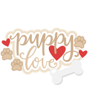 Puppy Love Title SVG scrapbook cut file cute clipart files for silhouette cricut pazzles free svgs free svg cuts cute cut files