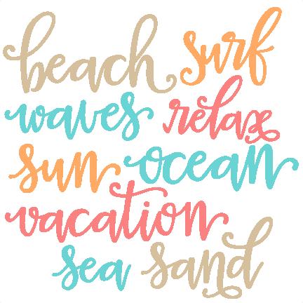 Download Beach Words SVG scrapbook cut file cute clipart files for ...