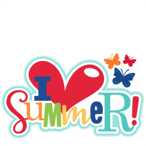 I Heart Summer Title SVG scrapbook cut file cute clipart files for silhouette cricut pazzles free svgs free svg cuts cute cut files