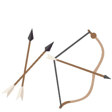 Bow and arrow set svg scrapbook cut file cute clipart for Set de table plastique transparent
