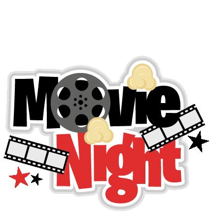 Movie Night Title SVG Scrapbook Cut File Cute Clipart