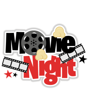 Movie Night Title SVG scrapbook cut file cute clipart files for silhouette cricut pazzles free svgs free svg cuts cute cut files