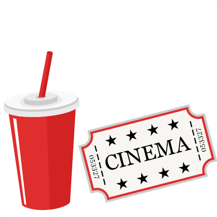 Movie Ticket and Soda SVG scrapbook cut file cute clipart ...