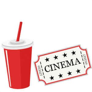 Movie Ticket and Soda SVG scrapbook cut file cute clipart files for silhouette cricut pazzles free svgs free svg cuts cute cut files