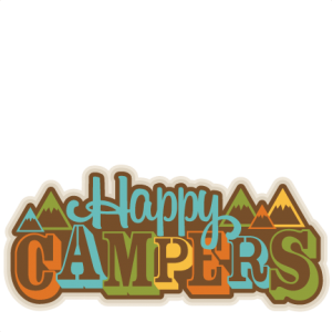 Happy Campers Title SVG scrapbook cut file cute clipart files for silhouette cricut pazzles free svgs free svg cuts cute cut files