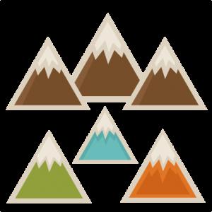 Mountain Set SVG scrapbook cut file cute clipart files for silhouette cricut pazzles free svgs free svg cuts cute cut files