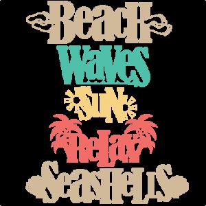 Beach Word Titles SVG scrapbook cut file cute clipart files for silhouette cricut pazzles free svgs free svg cuts cute cut files