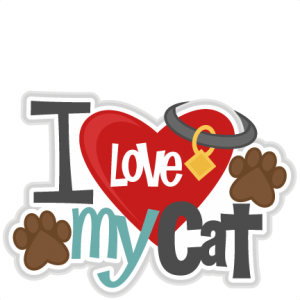 I Love My Cat Title SVG scrapbook cut file cute clipart files for silhouette cricut pazzles free svgs free svg cuts cute cut files