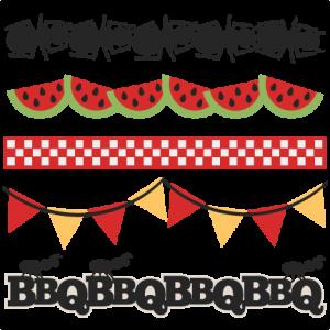 BBQ Borders SVG scrapbook cut file cute clipart files for silhouette cricut pazzles free svgs free svg cuts cute cut files