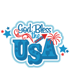 God Bless the USA Title SVG scrapbook cut file cute clipart files for silhouette cricut pazzles free svgs free svg cuts cute cut files