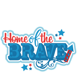 Home of the Brave Title SVG scrapbook cut file cute clipart files for silhouette cricut pazzles free svgs free svg cuts cute cut files