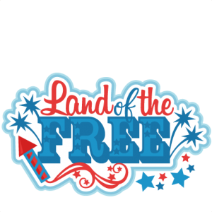 Land of the Free Title SVG scrapbook cut file cute clipart files for silhouette cricut pazzles free svgs free svg cuts cute cut files