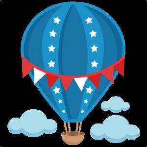 Patriotic Hot Air Balloon SVG scrapbook cut file cute clipart files for silhouette cricut pazzles free svgs free svg cuts cute cut files