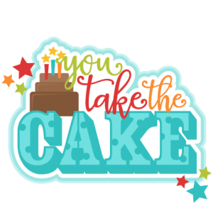 You Take the Cake Title SVG scrapbook cut file cute clipart files for silhouette cricut pazzles free svgs free svg cuts cute cut files