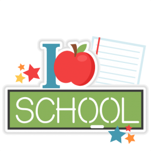 I Love School Title SVG scrapbook cut file cute clipart files for silhouette cricut pazzles free svgs free svg cuts cute cut files