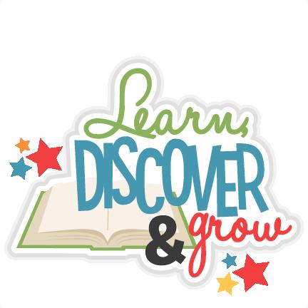 Learn Discover Grow Title Svg Scrapbook Cut File Cute