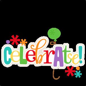 Celebrate Title SVG scrapbook cut file cute clipart files for silhouette cricut pazzles free svgs free svg cuts cute cut files