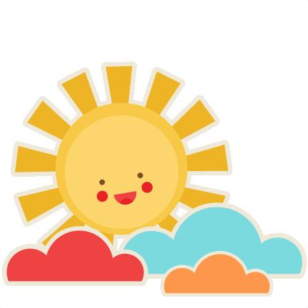 Smiling Sun SVG scrapbook cut file cute clipart files for ...