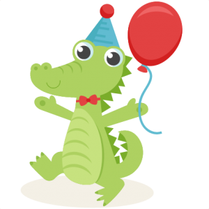 Birthday Alligator SVG scrapbook cut file cute clipart files for silhouette cricut pazzles free svgs free svg cuts cute cut files