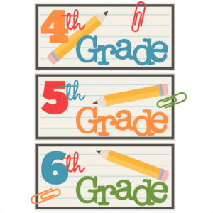 4th 5th 6th Grade Titles SVG scrapbook cut file cute clipart files for silhouette cricut pazzles free svgs free svg cuts cute cut files