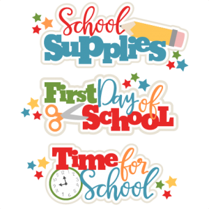 School Titles Set SVG scrapbook cut file cute clipart files for silhouette cricut pazzles free svgs free svg cuts cute cut files