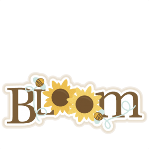 Sunflower Bloom Title SVG scrapbook cut file cute clipart files for silhouette cricut pazzles free svgs free svg cuts cute cut files