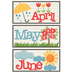 April May June Titles SVG scrapbook cut file cute clipart files for silhouette cricut pazzles free svgs free svg cuts cute cut files