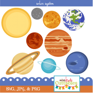 Solar System Set SVG scrapbook cut file cute clipart files for silhouette cricut pazzles free svgs free svg cuts cute cut files
