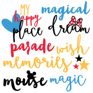 Magical Words Set Disney Title SVG scrapbook cut file cute clipart files for silhouette cricut pazzles free svgs free svg cuts cute cut files