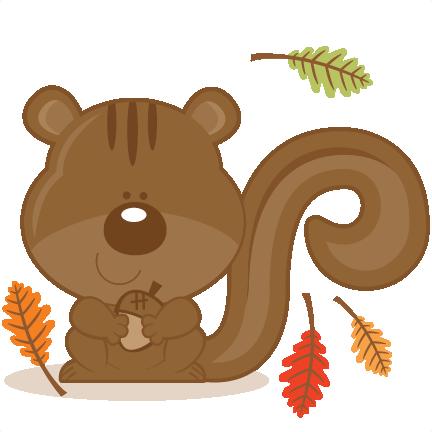 Squirrel With Acorn SVG scrapbook cut file cute clipart ...