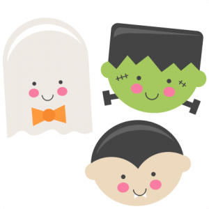 Cute Halloween Monsters Ghost Vampire Frankenstein SVG scrapbook cut file cute clipart files for silhouette cricut pazzles free svgs free svg cuts cute cut files
