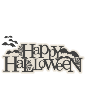 Happy Halloween Title SVG scrapbook cut file cute clipart files for silhouette cricut pazzles free svgs free svg cuts cute cut files