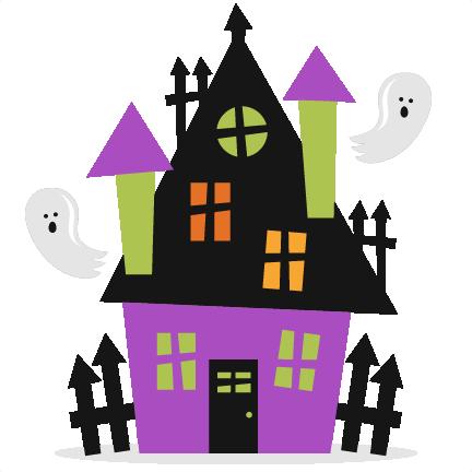 Halloween Haunted House SVG scrapbook cut file cute ...