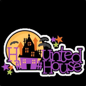 Halloween Haunted House Title SVG scrapbook cut file cute clipart files for silhouette cricut pazzles free svgs free svg cuts cute cut files