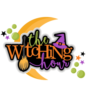 The Witching Hour Title Halloween SVG scrapbook cut file cute clipart files for silhouette cricut pazzles free svgs free svg cuts cute cut files