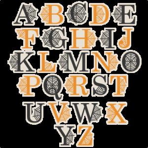 Spidereweb Uppercase Alphabet SVG scrapbook cut file cute clipart files for silhouette cricut pazzles free svgs free svg cuts cute cut files