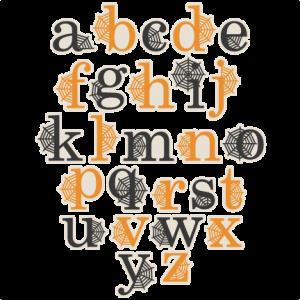 Spidereweb Lowerrcase Alphabet SVG scrapbook cut file cute clipart files for silhouette cricut pazzles free svgs free svg cuts cute cut files