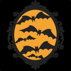 Halloween Bat  Frame  SVG scrapbook cut file cute clipart files for silhouette cricut pazzles free svgs free svg cuts cute cut files