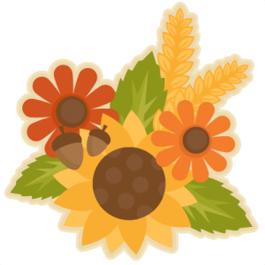 Fall Flower Group SVG scrapbook cut file cute clipart files for silhouette cricut pazzles free svgs free svg cuts cute cut files