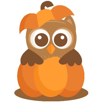 owl in pumpkin svg scrapbook cut file cute clipart files