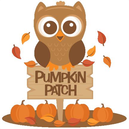 Owl in Pumpkin Patch SVG scrapbook cut file cute clipart ...