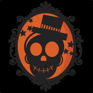 Halloween Skeleton Frame  SVG scrapbook cut file cute clipart files for silhouette cricut pazzles free svgs free svg cuts cute cut files
