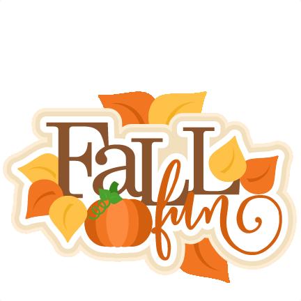Fall Fun Title SVG scrapbook cut file cute clipart files ...