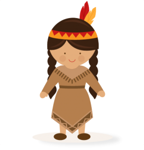 Thanksgiving Girl Native American SVG scrapbook cut file cute clipart files for silhouette cricut pazzles free svgs free svg cuts cute cut files