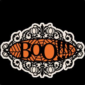 Boo Halloween Title Frame SVG scrapbook cut file cute clipart files for silhouette cricut pazzles free svgs free svg cuts cute cut files