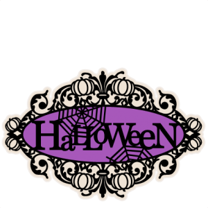 Halloween Title SVG scrapbook cut file cute clipart files for silhouette cricut pazzles free svgs free svg cuts cute cut files